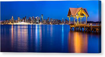 Reflections Of A Gazebo Canvas Print by Alexis Birkill