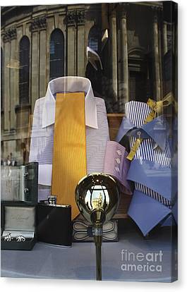 Reflections Of A Gentleman's Tailor Canvas Print by Terri Waters