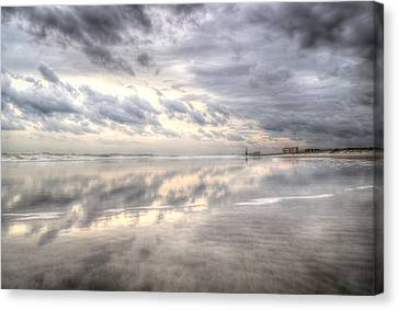 Reflections Of Amelia Island Canvas Print by Wade Brooks