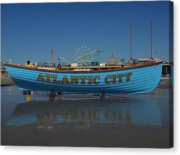 Reflections Of Atlantic City Canvas Print