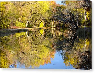 Reflections Of Autumn Canvas Print by Kathi Isserman