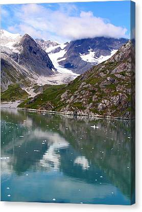 Reflections Of Blue And Green In Alaska Canvas Print