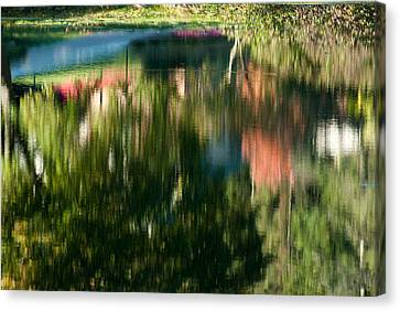 Reflections Of Colours  Canvas Print by Optical Playground By MP Ray