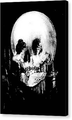 Reflections Of Death After Gilbert Canvas Print by Tracey Harrington-Simpson