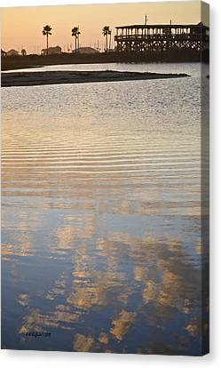 Reflections Of Dusk Canvas Print by Allen Sheffield