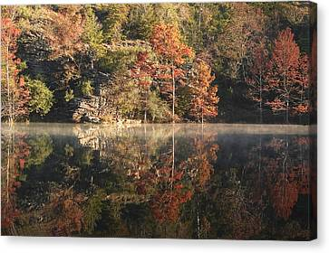 Reflections Of Fall Canvas Print by Cindy Rubin
