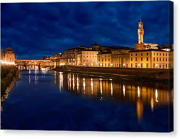 Reflections Of Florence Canvas Print by Gurgen Bakhshetsyan