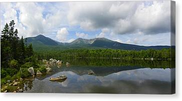 Reflections Of Katahdin At Sandy Stream Pond Canvas Print