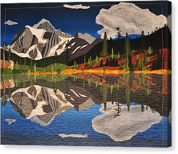 Canvas Print featuring the tapestry - textile Reflections Of Mt.shuksan by Jo Baner