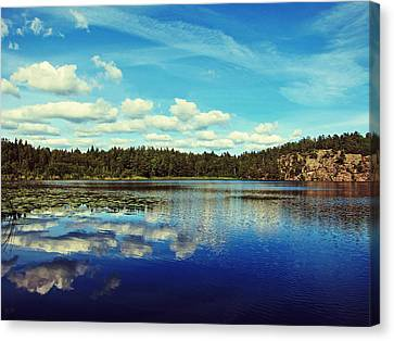 Reflections Of Nature Canvas Print by Nicklas Gustafsson