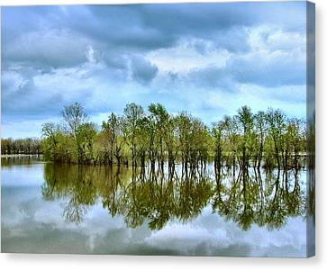 Julie Dant Artography Canvas Print - Reflections Of Spring by Julie Dant