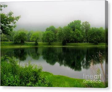 The Hatchery Canvas Print - Reflections Of The Shire by Mark Miller