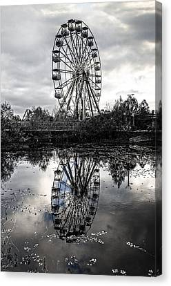 Reflections Of The Wheel Canvas Print