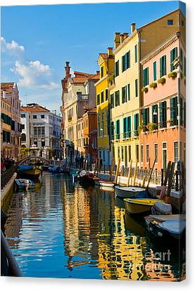 Reflections Of Venice II Canvas Print by Sheila Laurens
