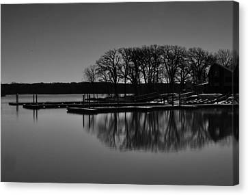 Reflections Of Water Canvas Print by Miguel Winterpacht