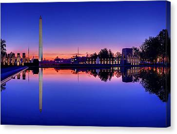 Reflections Of World War II Canvas Print by Metro DC Photography