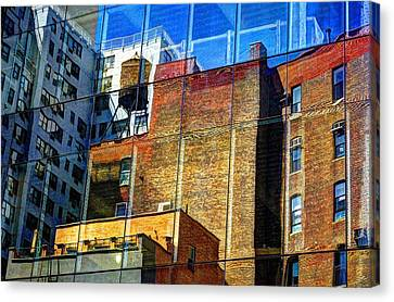 Reflections On 9th Street Canvas Print