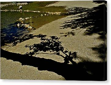 Reflections On A River Canvas Print by Kirsten Giving