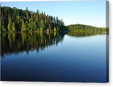 Reflections On A Wilderness Lake Canvas Print by Mark Herreid