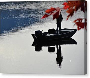 Reflections On Fishing Canvas Print