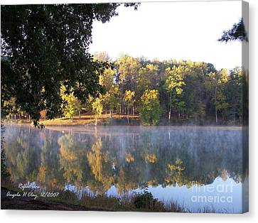 Reflections On Lake Lanier Canvas Print by Angelia Hodges Clay