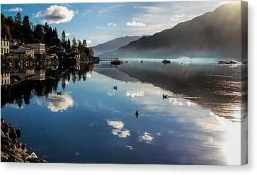 Reflections On Loch Goil Scotland Canvas Print