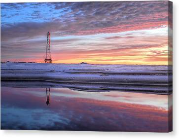 Reflections On Pensacola Bay Canvas Print by JC Findley