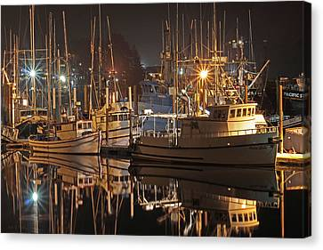 Reflections On The Bay Canvas Print by Kim Mobley