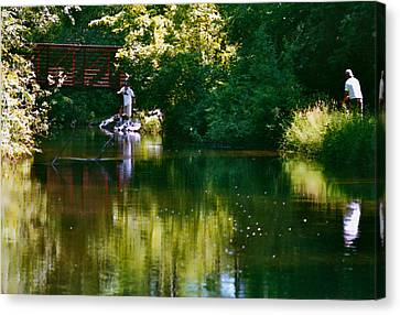 Reflections Canvas Print by Susan Crossman Buscho