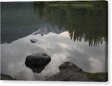 Reflections Two Jacks Lake Canvas Print