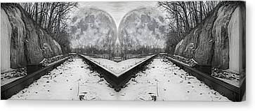 Reflective Journey Canvas Print by Betsy Knapp