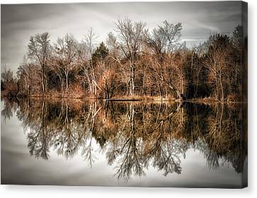 Reflective Morning Canvas Print by James Barber