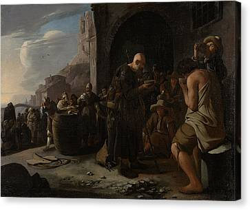 Refreshing The Thirsty, Michael Sweerts Canvas Print by Litz Collection