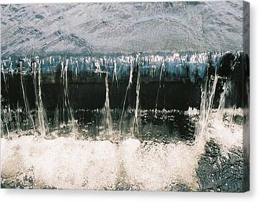 Canvas Print featuring the photograph Refreshing Waterfall by Ramona Whiteaker