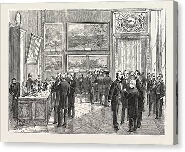 Refreshment Buffet Of The New Chamber Of Deputies Canvas Print by French School