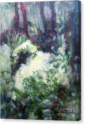 Canvas Print featuring the painting Refuge by Mary Lynne Powers