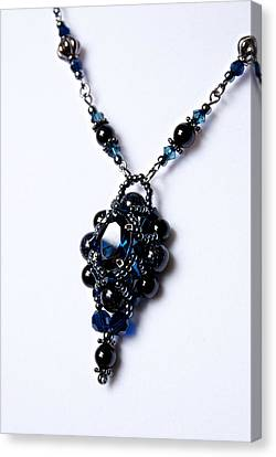 Regal Sapphire Pendant Necklace And Matching Earrings Set Canvas Print by WDM Gallery