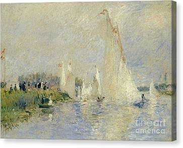 Regatta At Argenteuil Canvas Print by Pierre Auguste Renoir
