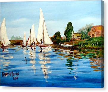 Regatta De Argenteuil Canvas Print by Karon Melillo DeVega