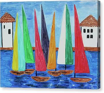 Regatta Canvas Print by Diane Pape