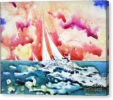 Regatta Canvas Print by Joan Hartenstein