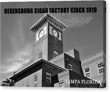 Regensburg Cigar Factory Bw Work Canvas Print