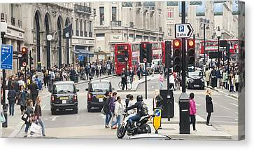 Crosswalk Canvas Print - Regent Street London by Chevy Fleet