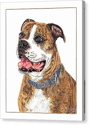Canvas Print featuring the painting Reggie by Val Miller