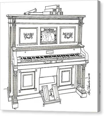 Regina Player Piano Canvas Print by Ira Shander