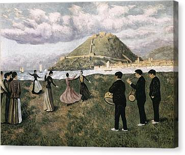 Regoyos, Darío De 1875-1913. Basque Canvas Print by Everett