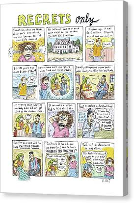 Etc Canvas Print - Regrets Only by Roz Chast