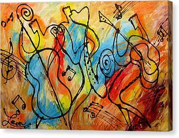 Avant Garde Jazz Canvas Print - Regtime 2 by Leon Zernitsky