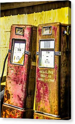 Canvas Print featuring the photograph Regular Gasoline by Steven Bateson
