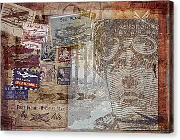 Regular Mail By Air Canvas Print by Carol Leigh